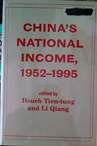 9780813335995: China's National Income, 1952-1995