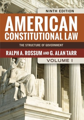 9780813347455: American Constitutional Law, Volume I: The Structure of Government (American Constitutional Law: The Structure of Government (V1)) (Volume 1)