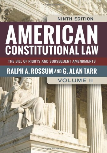 9780813347479: American Constitutional Law, Volume II: The Bill of Rights and Subsequent Amendments (American Constitutional Law: The Bill of Rights & Subsequent Amendments (V2))