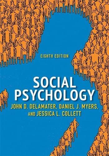 9780813349503: Social Psychology, 8th Edition