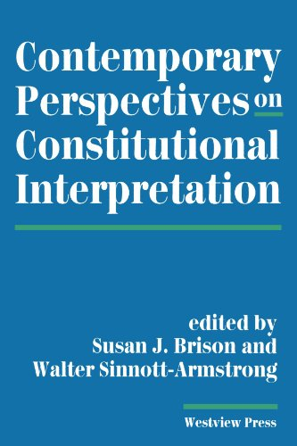 9780813383941: Contemporary Perspectives On Constitutional Interpretation