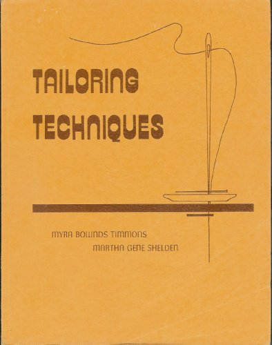 9780813417677: Tailoring Techniques