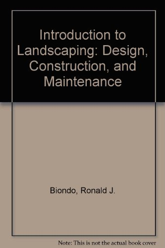9780813432366: Introduction to Landscaping: Design, Construction, and Maintenance