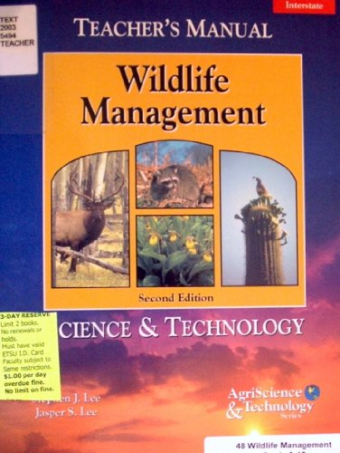 9780813432458: Wildlife Management Science & Technology (Teacher's Manual) Second Edition