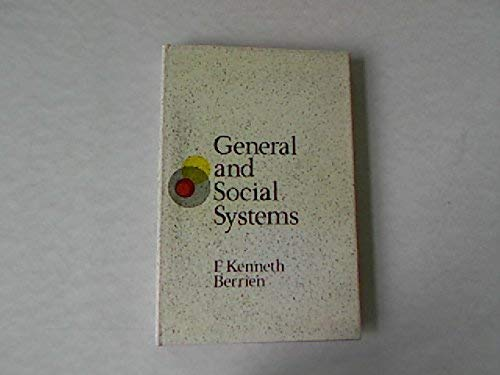 9780813505855: General and Social Systems