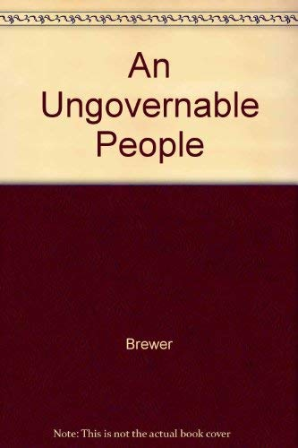 9780813508917: An Ungovernable People: The English and their Law in the 17th and 18th Centuries