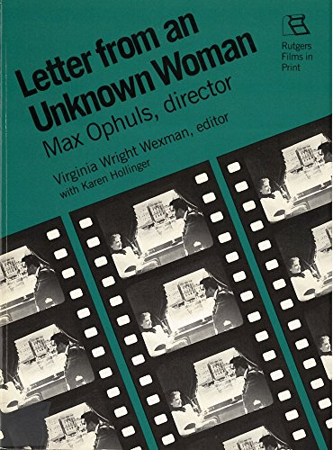 Letter from an Unknown Woman, Max Ophuls, Director