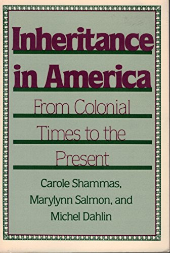 9780813512662: Inheritance In America