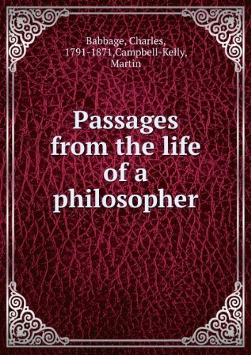 9780813520667: Charles Babbage: Passages from the Life of a Philosopher