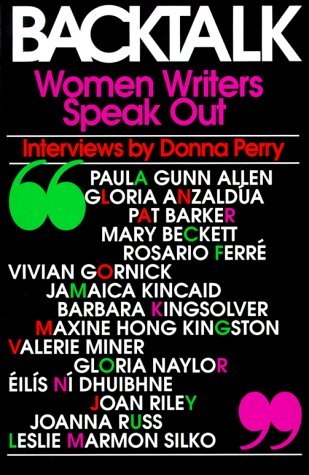 Backtalk: Women Writers Speak Out: Prof. Donna Perry