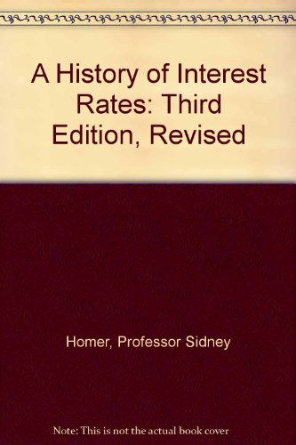 9780813523330: A History of Interest Rates