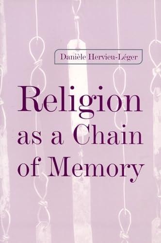 Religion as a Chain of Memory: Daniele Hervieu-Leger