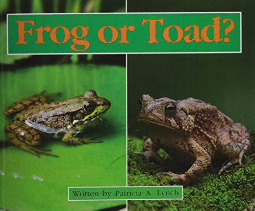 READY READERS, STAGE 4, BOOK 15, FROG OR TOAD?, 6 PACK: MODERN CURRICULUM PRESS
