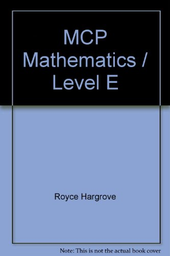 9780813631066: Modern Curriculum Press Mathematics: Level E