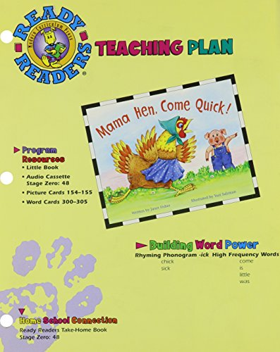 READY READERS, STAGE ZERO, BOOK 48, MAMA HEN, COME QUICK, TEACHING PLAN: MODERN CURRICULUM PRESS