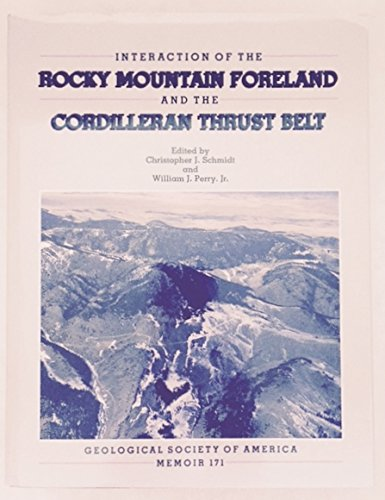 9780813711713: Interaction of the Rocky Mountain Foreland and the Cordilleran Thrust Belt (Geological Society of America Memoir 171) - with maps