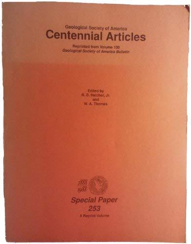 GSA Centennial Articles, Reprinted from Vol.100 of GSA Bulletin: Hatcher, R D