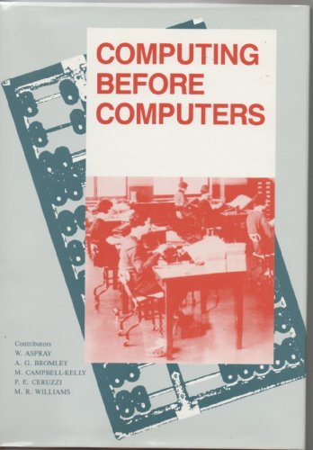 Computing Before Computers 9780813800479 Computing Before Computers offers a concise survey of computing technology prior to the development of the modern computer. It shows the continuity of the history of computing by tracing several distinct traditions that eventually converged to form today's technology.