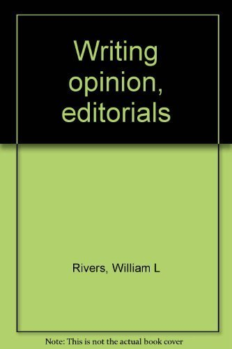 9780813805276: Writing opinion, editorials