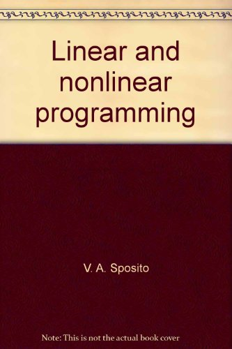 9780813810157: Linear and nonlinear programming