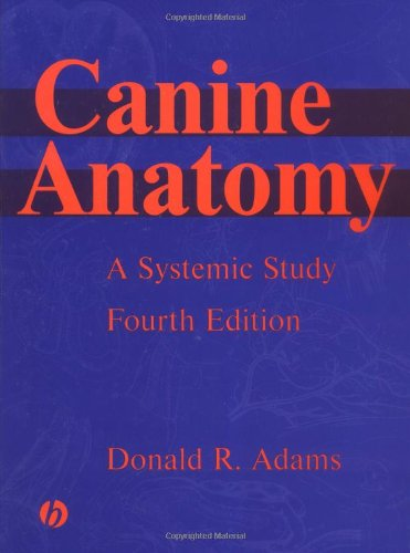 9780813812816: Canine Anatomy: A Systematic Study