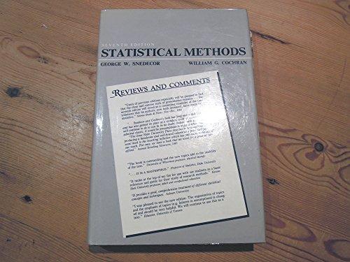 Statistical Methods. Sixth Edition: William G. Cochran,