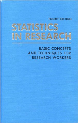 9780813815695: Statistics in Research: Basic Concepts and Techniques for Research Workers