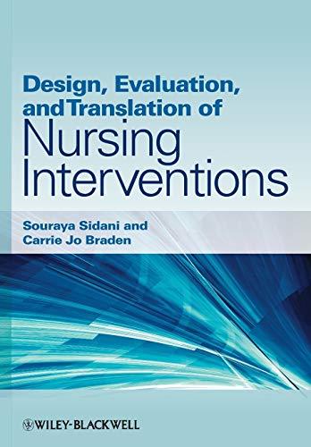 9780813820323: Design, Evaluation, and Translation of Nursing Interventions