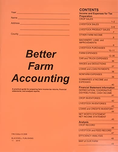 9780813821566: Better Farm Accounting: A Practical Guide for Preparing Farm Income Tax Returns, Financial Statements, and Analysis Reports