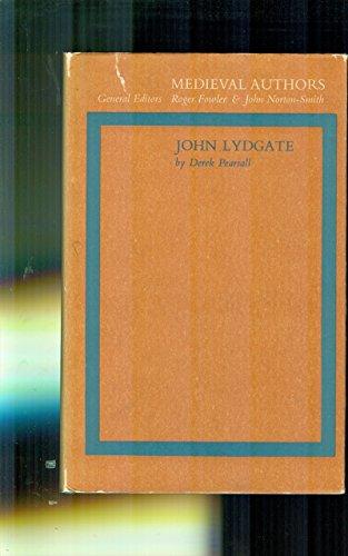 John Lydgate: Pearsall, Derek Albert
