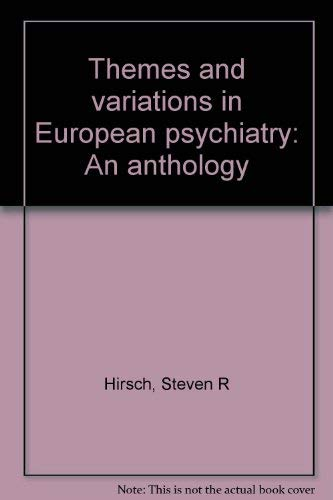 9780813905112: Themes and variations in European psychiatry: An anthology