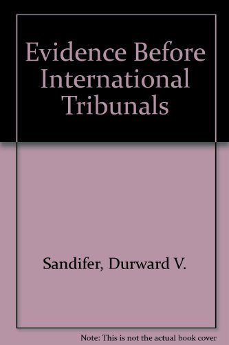 9780813906164: Evidence Before International Tribunals (Procedural aspects of international law series)