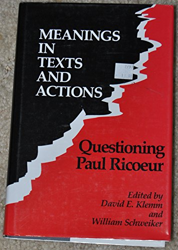 9780813914114: Meanings in Texts and Actions: Questioning Paul Ricoeur (Studies in Religion and Culture)