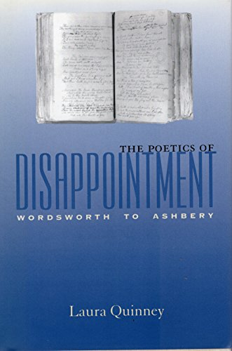 The Poetics of Disappointment: Wordsworth to Ashbery