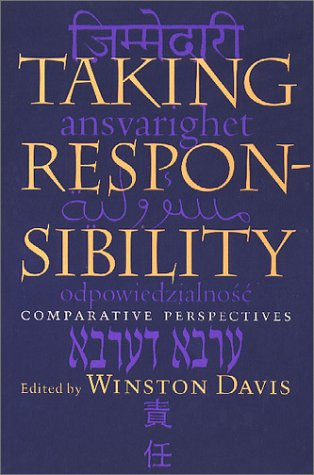 9780813920504: Taking Responsibility: Comparative Perspectives (Studies in Religion and Culture)