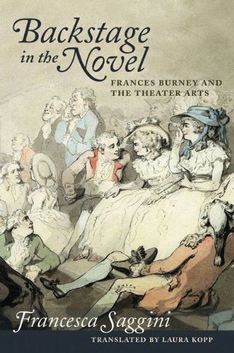 9780813932545: Backstage in the Novel: Frances Burney and the Theater Arts