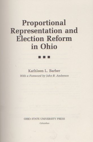 9780814206614: Proportional Representation and Election Reform in Ohio (Urban Life and Urban Landscape Series)