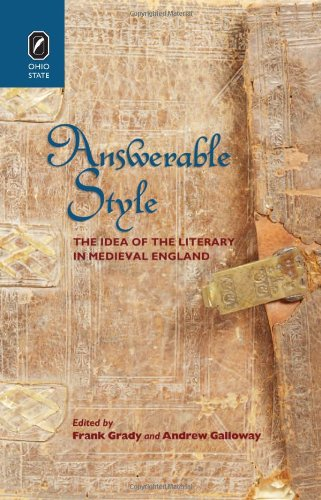 Answerable Style: The Idea of the Literary in Medieval England (Hardback)