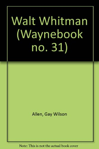 9780814314067: Title: Walt Whitman Waynebook no 31