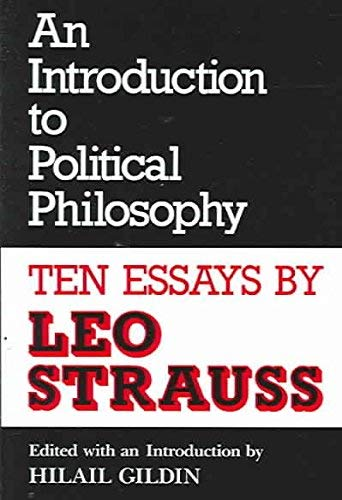 9780814319017: An Introduction to Political Philosophy: Ten Essays by Leo Strauss (Culture of Jewish modernity)