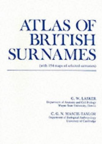 9780814322536: Atlas of British Surnames: With 154 maps of selected surnames