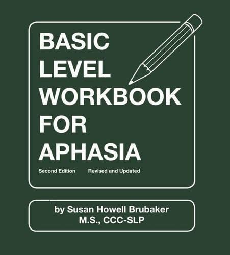 9780814333167: Basic Level Workbook for Aphasia: Second Edition, Revised and Updated (William Beaumont Hospital Series in Speech and Language Pathology)