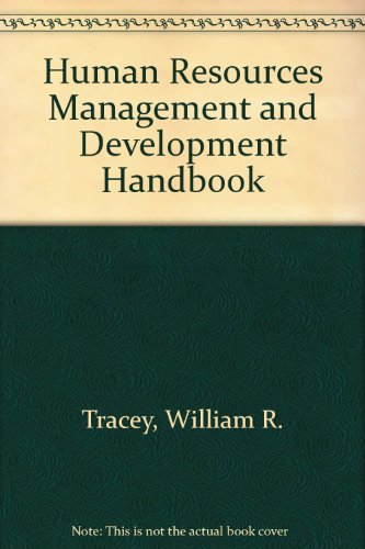 9780814401019: Human Resources Management and Development Handbook