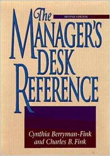 The Manager's Desk Reference: Berryman-Fink, Cynthia; Fink, Charles B.