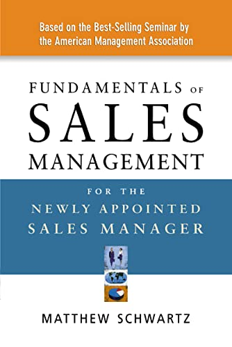9780814408735: Fundamentals of Sales Management for the Newly Appointed Sales Manager
