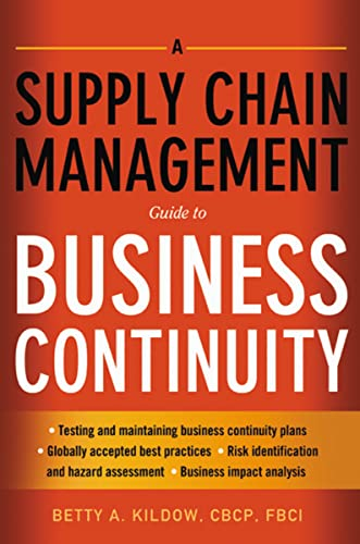 9780814416457: A Supply Chain Management Guide to Business Continuity