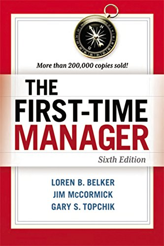 9780814417836: The First-Time Manager