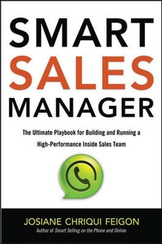 9780814432839: Smart Sales Manager: The Ultimate Playbook for Building and Running a High-Performance Inside Sales Team