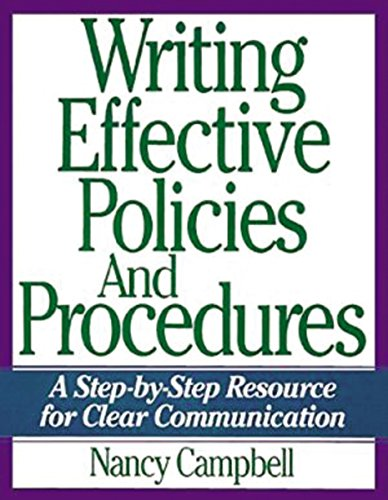 9780814438992: Writing Effective Policies and Procedures: A Step-by-step Resource for Clear Communication