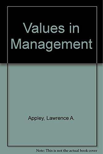 9780814451755: Values in Management